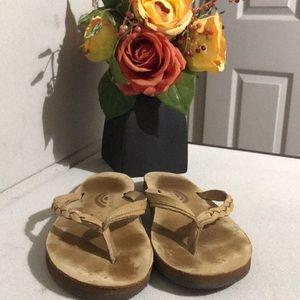 Rainbow 🌈 Braided Flip Flops Sandals Leather